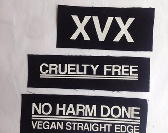XVX vegan straight edge patch lot