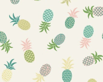 LAST YARD - Lewis & Irene - Tropicana - Pineapples on White
