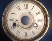 Antique clock face with roman numerals