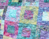 Reserved Batik Patchwork Quilt, Queen / King Size, Rockpool, Handmade by PingWynny