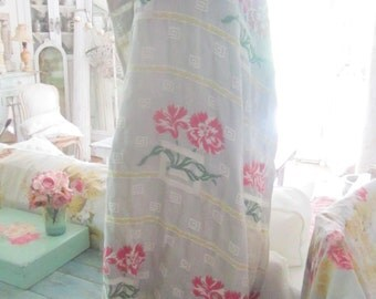 Curtain panels  pair curtain panel with flowers curtain panel  bohemian  romantic shabby chic prairie cottage chic