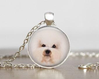 I Heart My Bichon Frise Pendant Necklace