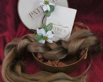 Vintage '60s Patrice Wig Extension Chignon Wiglet Dark Ash Blonde Hairpiece Real Human Hair Braid with Original Box & Instructions