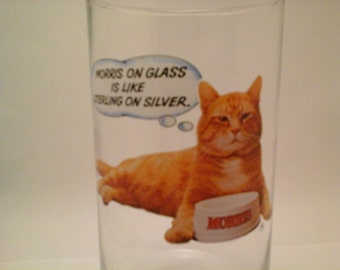 Vintage 9-Lives Morris the Cat drinking glass