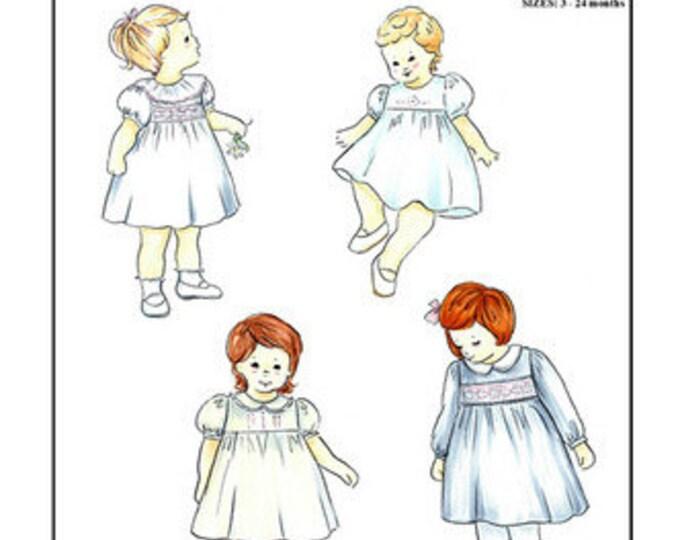 Girls High Yoke Dress Pattern / Smocked Dress Pattern/ Square Yoke Pattern / Creations by Michie #146