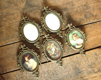 Ornate Metal Picture Frames Small Mirrors Pictures Vintage Wall Hangings