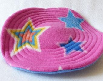 Large Flying Saucer Dog Toy - Pink Star Print