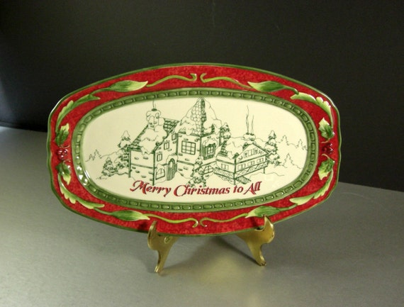 Fitz and floyd christmas canape cookie dish tray plate candy for Fitz and floyd canape plate