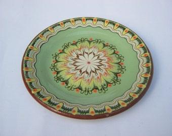 Original Bulgarian handpaint and handmade plate/ folk