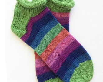Hand Knit Unique Short Socks, Ankle Socks, Boho Socks, Men Women Socks, Teen Sox, Bohemian Socks, Hipster Socks, Short Sox, Slipper Socks