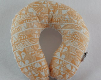 Orange Tribal Travel Neck Pillow for Children and Adults