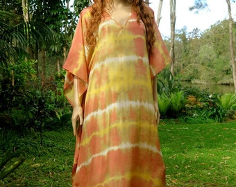 Long Silk Kaftan, Kaftan Dress, Maxi Dress