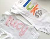 Personalized newborn onesie name custom baby shower gift photo prop