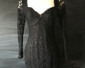 Vintage 80's Expo Nite Lace Dress