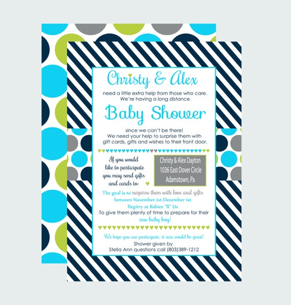long distance baby shower from afar invitations boys skype shower
