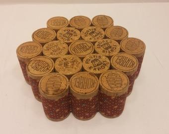 Honeycomb Cork Trivet - Korbel Fortis Export Champagne, Made of 19 corks, nice home bar accessory