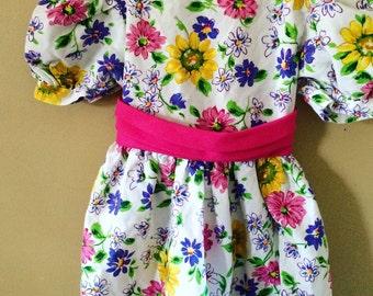 Vintage floral Dress 6x