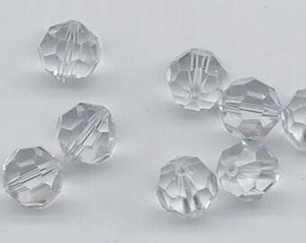 24 gorgeous Swarovski crystals - art 5000 - 6 mm - shadow crystal