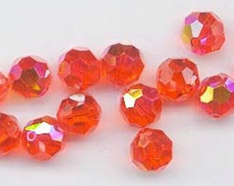 Twelve Swarovski crystals - Art. 5000 - 8 mm - reprise of discontinued color hyacinth AB