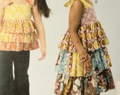 McCalls 6946  Easy Girls Boutique Style Outfits-Sizes 2-5