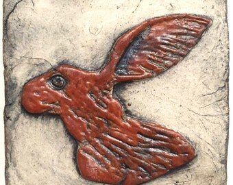 Hare Head Ceramic Rabbit Head Tile