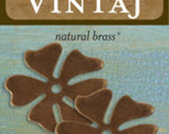 Vintaj 28mm Hawaiian Flower (2 pcs/pkg)
