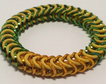 Junkrat Inspired Stretch Box Chain Chainmaille Bracelet