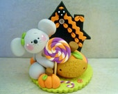 Mouse - Halloween Scene - Polymer Clay - Figurine