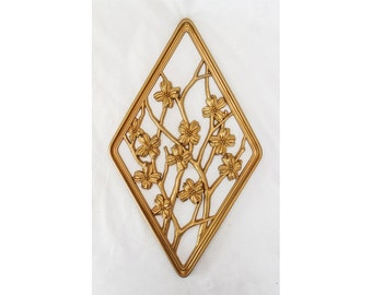 Gold Dogwood Wall Plaque Syroco No 3367 SPRING from The Seasons Line