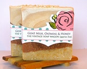 Goat Milk, Oatmeal and Honey Soap - made with Calamine and Oats