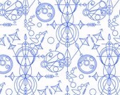 Abacus - Mercury in Cobalt - Alison Glass for Andover - A-8073-B - 1/2 yd