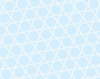 ON SALE - Mini Pearl Bracelets in Periwinkle - Lizzy House for Andover Fabrics - A-7829-B2 - 1/2 Yard