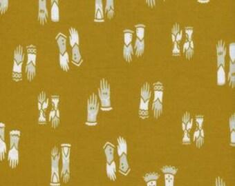Cat Lady - Kitten Mittens in Mustard - 2027-1 - Sarah Watts for Cotton + Steel - 1/2 yard
