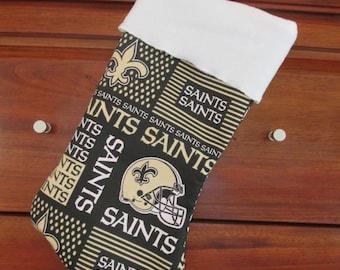 New Orleans Saints Handmade Christmas Stocking