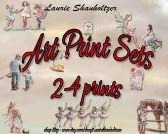 Art Sets 2- 4 Prints - Choose any print listed,  signed - titled on cotton art paper by Laurie Shanholtzer