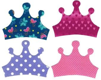 4 Princess crown iron on appliques DIY