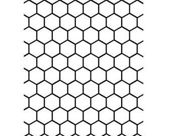 Honeycomb Paper Embossing Folder for A2 Cards - 4.25 x 5.75 - by Darice