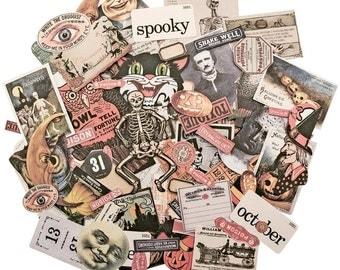 "Tim Holtz  Halloween Ephemera Pack, ""Curiosities"" Idea-Ology, 97 Pieces"