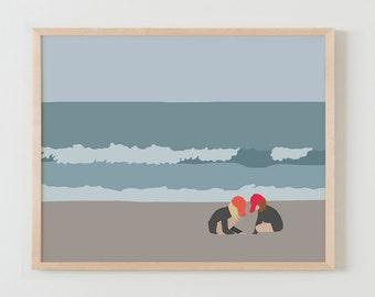 Fine Art Print.  Girls at the Beach.May 2, 2016.