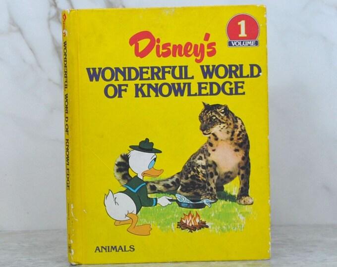 Vintage  Disney Wonderful World of Knowledge 1982  Volume 1 Animals, Theme Park, Walt Disney, Children's Books, Disney Series, Education