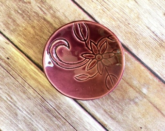 Ring Dish - Purple Ring Holder, handmade from scratch!  Purple jewelry bowl / trinket holder - Great gift for bridesmaids, shower favor