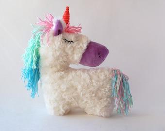 Stuffed unicorn toy Horse Stuffed Animal rainbow party