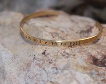 "Brass 1/8"" personalized handstamped cuff"