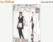 ON SALE 90's Sewing Pattern - McCall's 7312 Vest, Crinkle Shirt, Scarf Size 10-14 Uncut, Factory Folded