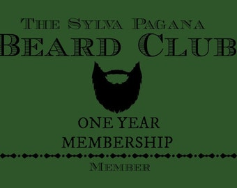 Beard Club - of the month - year long mens gift for him - natural organic beard oil wash beard care hair care grooming