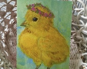 Easter Card/Easter/Easter Note Card/Easter Greeting Card/Chick/Chick Art/Chick Card/Chick Greeting Card/FREE SHIPPING