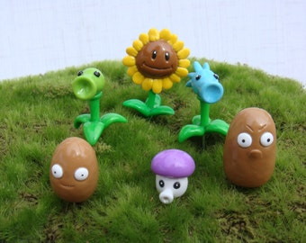 Plants vs. Zombies Terrarium collection (6)- Potted Plant- Video Game- Polymer Clay