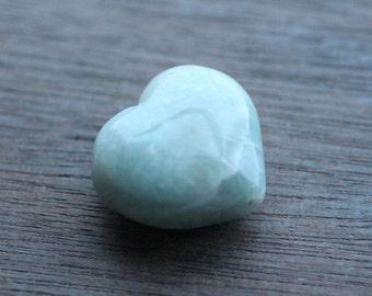 Amazonite Heart Shaped Stone  #24394