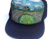 Football Green Bay Packers Hand Painted Custom Trucker Hat by Roupolimama