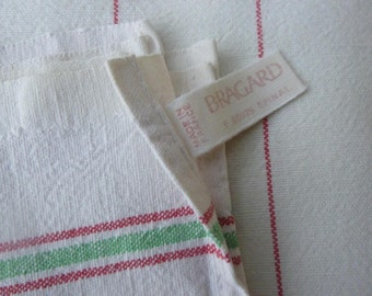 7 Vintage French Tea Towel, Torchons, French Traditional Metis X 7